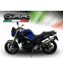 GPR SCARICO DI SCARICO OMOLOGATO CON RACCORDO BMW.37.GPAN.TO BMW F 800 R 2009/14 GPE ANNIVERSARY TITANIUM