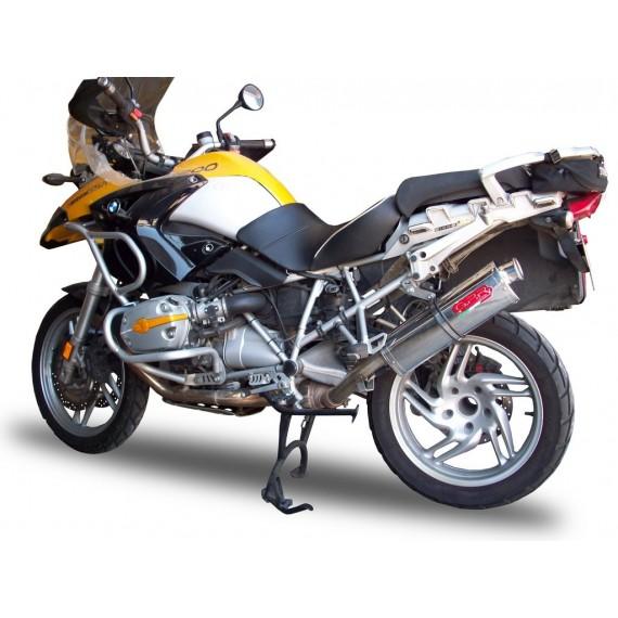 GPR SCARICO DI SCARICO OMOLOGATO CON RACCORDO BMW.39.TO BMW R 1200 GS 2010/12 - ADV 2010/13 TITANIUM OVALE / OVAL