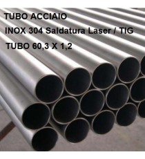 TUBO ACCIAIO INOX 304