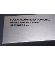 LAMIERA ACCIAIO INOX 304 SATINATO 2B FOGLIO PANNELLO 1000mm X 500mm SPESSORE 0,8mm