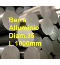 BARRA PIENA ALLUMINIO ANTICORODAL DIAMETRO 35MM L.1000