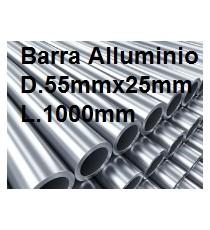 BARRA TUBO ALLUMINIO ANTICORODAL DIAMETRO 55MM X 25MM L.1000MM