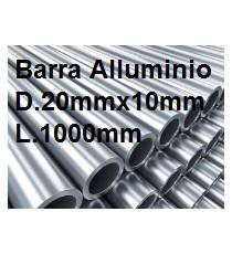 BARRA TUBO ALLUMINIO ANTICORODAL DIAMETRO 20MM X 10MM L.1000MM
